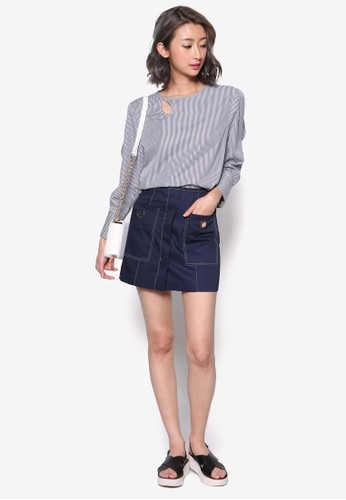 esprit台灣網頁金屬孔迷你短裙, 服飾, 裙子