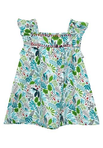 Du Pareil Au Même (DPAM) white Tropical Dress 83838KA36AE1E1GS_1