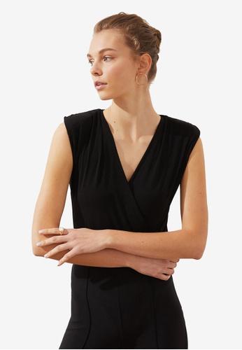 Trendyol black Wrap Bodysuit C7092AAFE151D2GS_1
