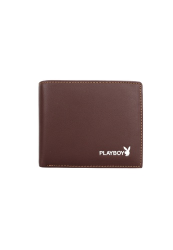 Playboy brown Bifold Brand Wallet BC359AC05BE664GS_1