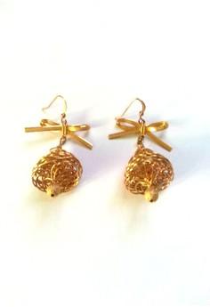 Vintage Bell Design Drop Earrings