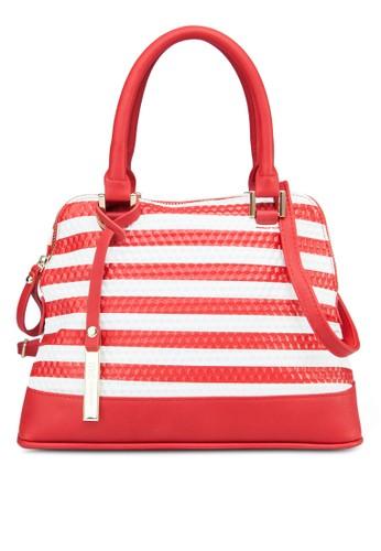 esprit 價位條紋手提包, 包, 飾品配件