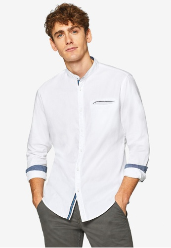 ESPRIT 白色 長袖襯衫 679BFAA45F3633GS_1