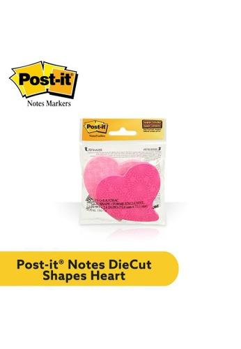 Post-IT 3M Post it Super Sticky Die Cut Notes, 3x3 inch, Heart [7350-HRT] 03200HL5DC718EGS_1
