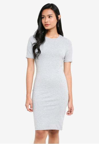 Dorothy Perkins grey Plain Jersey Bodycon Dress 513EBAAA4C240DGS_1