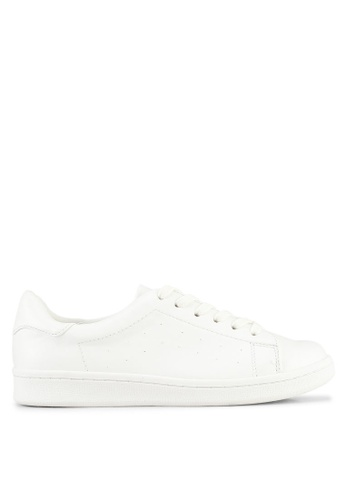 Miss Selfridge white Ella Perforated Trainers 6DB9BSHAFE4F2EGS_1