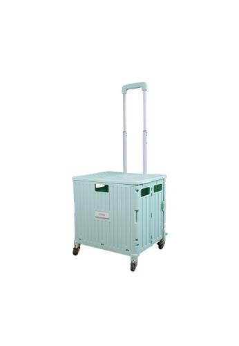 HOUZE green HOUZE - Moveet Foldable Shopping Trolley - Green E0B37HL635321BGS_1