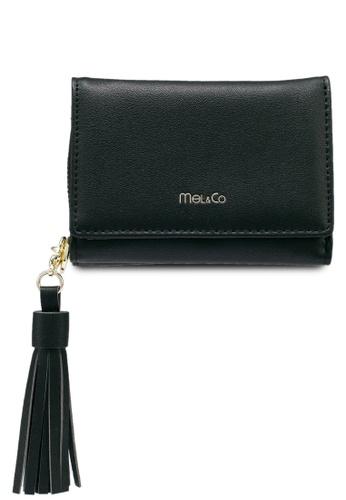 Mel&Co black Faux Leather Mid-Size Wallet 8D1CBAC346AEF6GS_1