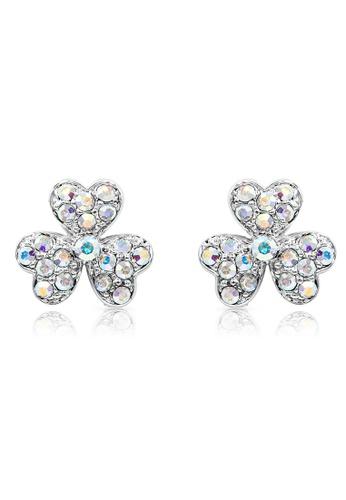 SO SEOUL silver Alette Three-Leaf Clover Stud Earrings B8D61ACF18A227GS_1