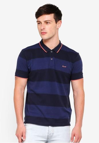 ESPRIT navy Short Sleeve Polo Shirt 3BECCAA2F7DC53GS_1