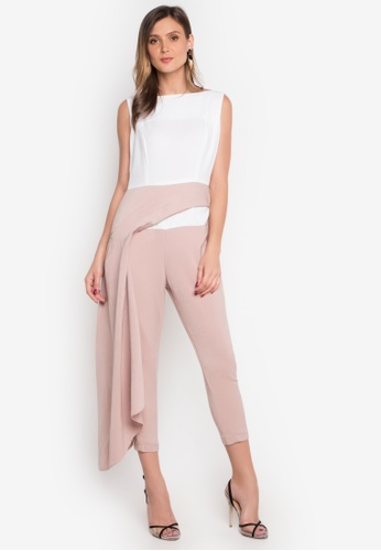 Madelaine Ongpauco Barlao white and brown Holly Jumpsuit MA508AA0JAQNPH_1