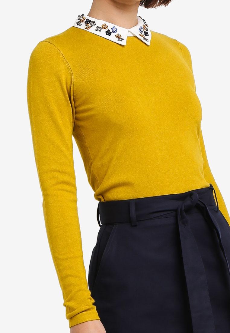 WAREHOUSE Skirt Cotton Compact Mini Navy rfqr8xvH