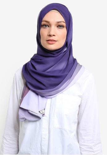 Cakenis purple Cakenis Premium Printed Chiffon CA625AA42TARMY_1