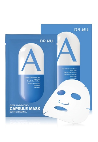 DR WU blue DR.WU Deep Hydrating Capsule Mask with Vitamin A 3pcs DR700BE0S74QMY_1