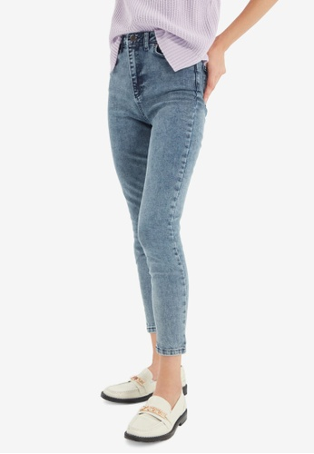 Trendyol blue High Waist Skinny Jeans 1024AAA4845A8CGS_1
