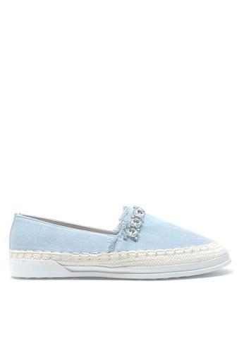 Twenty Eight Shoes blue Crystal Denim Slip-on A27-26 DD2F7SH049E0B2GS_1