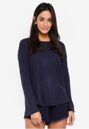 Cotton On Body navy Super Soft Relaxed Crew Top CA221AA9DC15ACGS_1