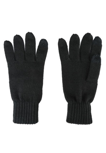 Burton Menswear London black Black Basic Knitted Gloves BU964AC0S5M5MY_1