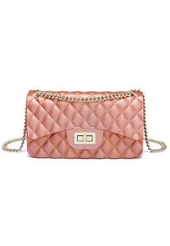 7e4f76331fee A FRENZ red Women Small Clutch Handbag Jelly Matte Quilted Chain Crossbody  Bag 1B8E8AC06CDD37GS 1