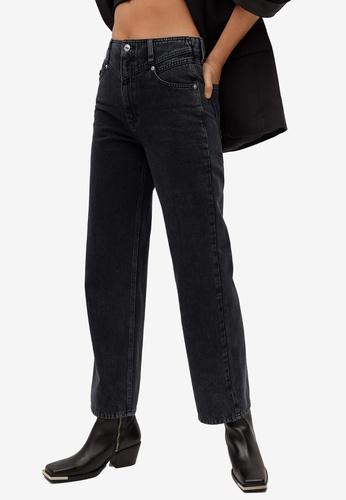Mango grey High Waist Straight Jeans 2AD7BAAA4304F4GS_1