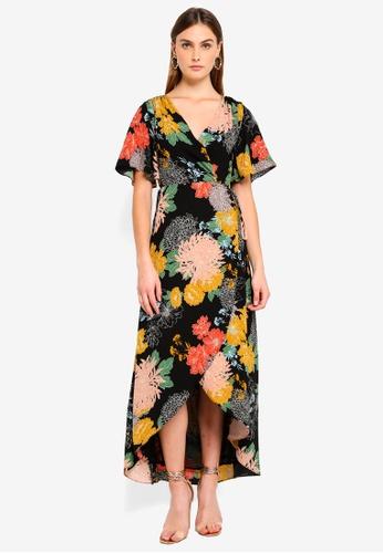 Glamorous black and multi Multi Floral Maxi Dress 63C24AA95E24F3GS_1