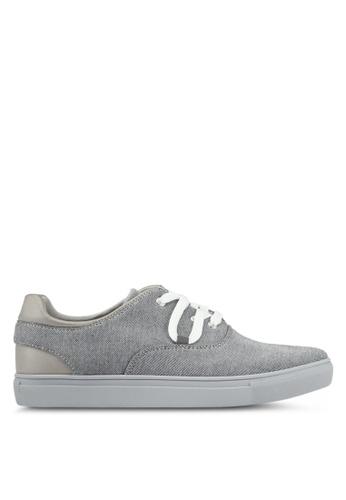 JAXON grey Mixed Materials Casual Sneakers 2EDB7SH0E92E13GS_1