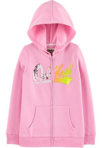 Oshkosh B'gosh pink OSH KOSH Girl Pink Logo Hoodie 9ED8CKACE5C2CFGS_1