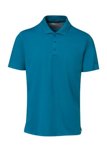 Porsche Design PUMA x Porsche Design Blue Men's Polo Shirt for Men Casual Sport Navy Teal Moroccan Blue 94CDBAA7A2F428GS_1