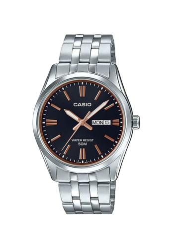 CASIO black and silver CASIO MEN WATCH MTP-1335D-1A2VDF BBE2FAC60789FEGS_1