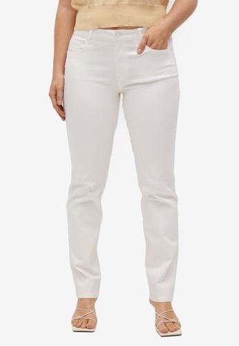 Violeta by MANGO white Plus Size Slim-Fit Julie Jeans 5ED2BAA158B3DDGS_1