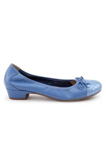 Shu Talk blue Elegant Calf Round Toe Low Heel Shoes SH617SH2VR9NHK_1