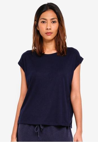 Cotton On Body blue Rib Boxy T-Shirt 17D34AA8D9B67BGS_1