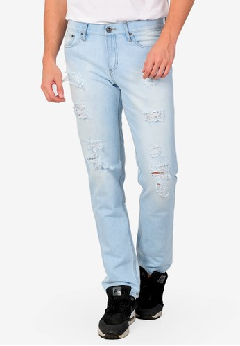 SJO & SIMPAPLY blue SIMPAPLY's Centrin Light Blue Men's Jeans 33129AACD19ABAGS_1
