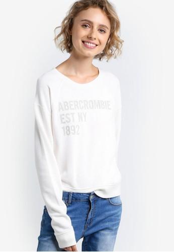 Core 品牌文字圓領esprit hk store長袖衫, 服飾, 外套