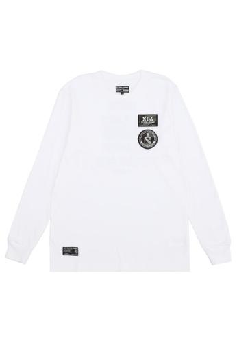izzue white Appliqued longsleeves T-shirt 730B5AA9C107B8GS_1