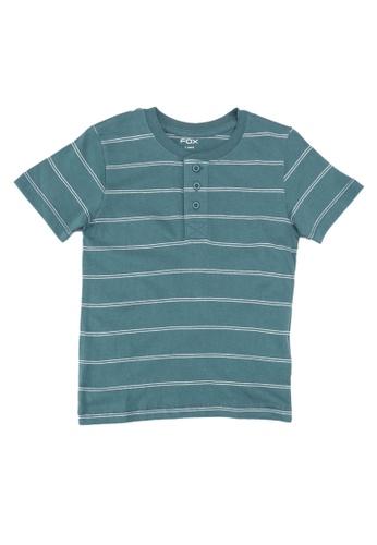 FOX Kids & Baby green Henley T-Shirt 42415KA817A986GS_1