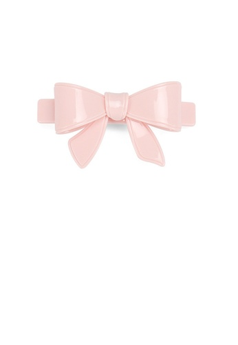 Glamorousky pink Simple and Cute Pink Ribbon Large Hair Slide 7C047AC2B7F4D0GS_1
