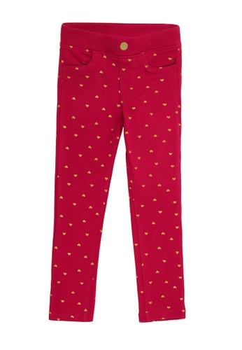 Du Pareil Au Même (DPAM) pink Print Pants B28DCKA222CA58GS_1