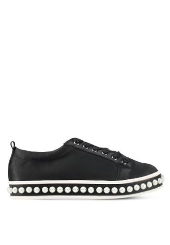 Something Borrowed black Pearl Studded Sneakers 4016DSH06D09B4GS_1