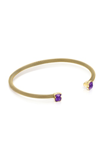 Tous purple and gold TOUS Fine gold-colored IP Steel Mesh Color Bracelet with Amethyst AE9B2AC1E7281DGS_1