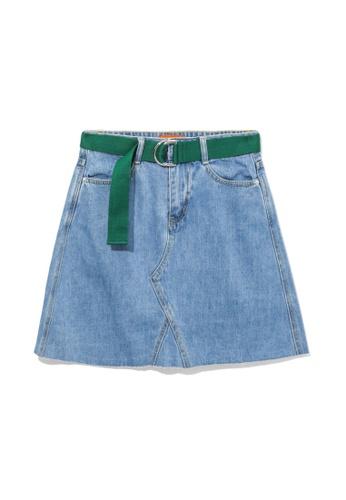 tout à coup blue Belted denim skirt 7D878AAA1B66C9GS_1