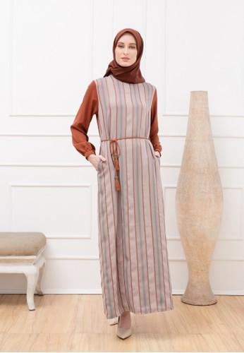 Monera Moslem Fashion orange and brown Morena Dress F22A6AAB376BA6GS_1