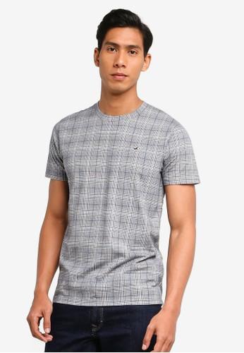 Hollister grey Curve Hem T-Shirt CE14EAAE163526GS_1