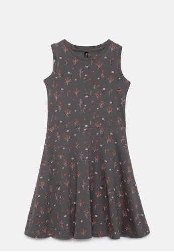 ZALZA grey Judy 100% Organic Cotton Knitted Girls Dress - Charcoal Grey 98B16KABF0C92FGS_1