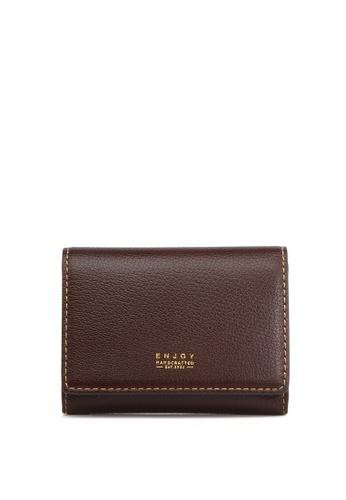Enjoybag brown Smart Core Italian Goat Leather Card Holder EN763AC2UOWEHK_1
