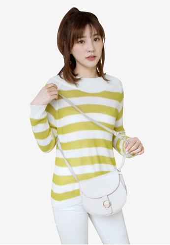 Tokichoi yellow and multi Basic Long Sleeve Striped Top DFBDBAA7ABD315GS_1