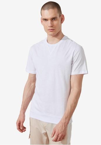 Trendyol white Plain T-Shirt 3650EAA3DD2DCFGS_1