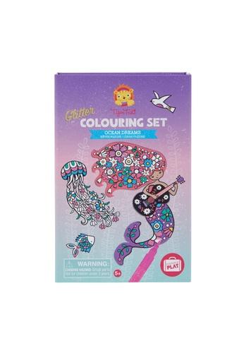 Tiger Tribe Glitter Colouring Set Ocean Dreams FFDFFTHAF468CEGS_1