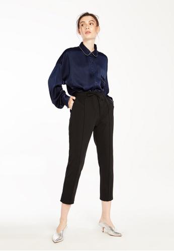 Pomelo black Nann Bow Tie Trousers - Black C0B2AAAC0C3F75GS_1