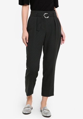 Dorothy Perkins black Spot Circle Tapered Trousers DO816AA0RJR6MY_1